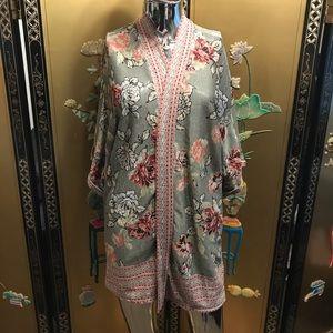 Large EUC floral kimono